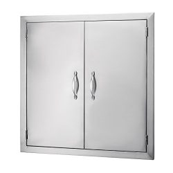 VEVOR Double Stainless Door 24″W by 24″H Barbecue Island Door Flush Mount Access Doo ...