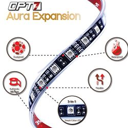2pc – OPT7 Aura LED Expansion Pack – 12-Inch Strips with Splitters and Extensions