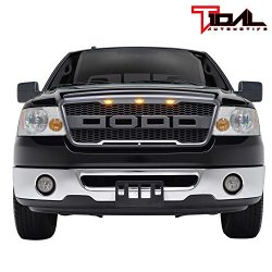 Tidal Raptor Style Upper Replacement Grille w/ LED Amber Lighting for 04-08 Ford F150 – Ch ...