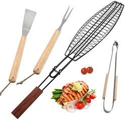 ROMANTICIST 4Pc BBQ Grilling Tools Set – Heavy Duty Stainless Steel Barbecue Grilling Acce ...
