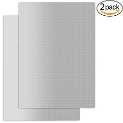 Silver Grill Mat Set of 2 Reusable Non-Stick BBQ Grill Mats 14.5 x 11.4-Inch Silver – Work ...