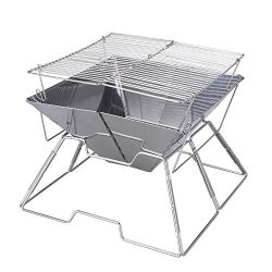 Magicook Portable BBQ Grill Charcoal Grill Stainless Steel Folding Grills for Outdoor Camp Garde ...