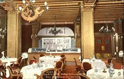 Electric Grill Hotel St. Francis San Francisco, California Original Vintage Postcard