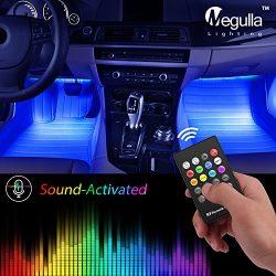 Underdash Lighting Kit, Megulla USB-Powered RGB Multi-Color LED Car Interior Lights with Sound A ...