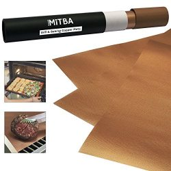 Copper Grill Mats by MiTBA – Best Baking & Grilling Accessories Ever! These Non-Stick &  ...