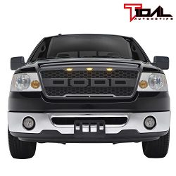 Tidal Raptor Style Upper Replacement Grille w/ LED Amber Lighting for 04-08 Ford F150 – Ma ...