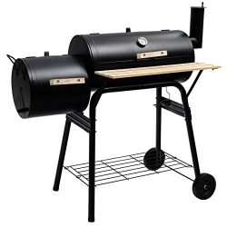 Giantex BBQ Grill Charcoal Barbecue Pit Patio Backyard Home Meat Cooker Smoker with Offset Smoke ...
