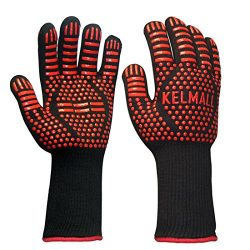 Kelmall Heat Resistant BBQ Grilling Gloves With Extra Long Oven Mitts Awesome for Kitchen Cookin ...