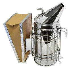 Aspectek Bee Hive Smoker, Beekeeping Equipment, Heavy Duty Stainless Steel Large Size , Superior ...