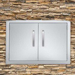 Seeutek BBQ Access Door 39W x 26H Inch Stainless Steel Double Wall Construction Vertical Door wi ...