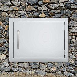 Seeutek BBQ Access Door 20W x 14H Inch Stainless Steel Single Wall Construction Vertical Door wi ...