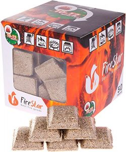 Fire starter cubes – bbq and grill charcoal starter – pack 50 pcs – natural fi ...