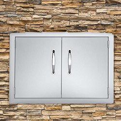 Seeutek BBQ Access Door 30.5W x 21H Inch Stainless Steel Double Wall Construction Vertical Door  ...
