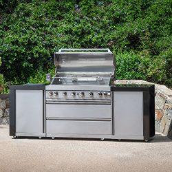 Great Deal Furniture Arvin | Outdoor 8-Burner Stainless Steel BBQ Gas Grill | in Stainless Steel ...
