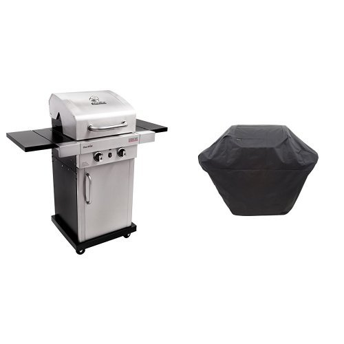 Char-Broil Signature TRU-Infrared 325 2-Burner Cabinet Liquid Propane Gas Grill with 2 Burner Me ...