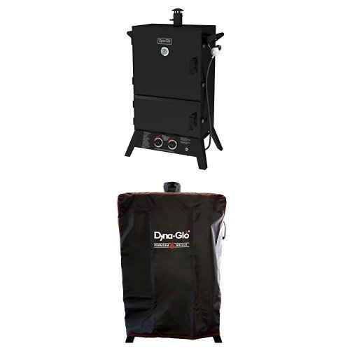Dyna-Glo DGW1235BDP-D 36″ Wide Body LP Gas Smoker and premium smoker cover