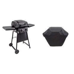 Char-Broil Classic 280 2-Burner Gas Grill with 2 Burner Medium Ripstop Grill Cover