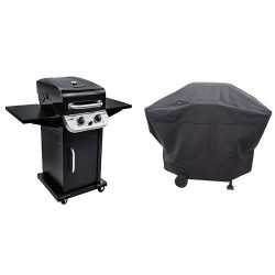 Char-Broil Performance 300 2-Burner Cabinet Gas Grill- Black with Performance Grill Cover, 2 Bur ...