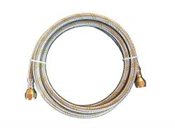 Propane, Natural Gas Line 6ft Stainless Steel Braided Hose LP LPG Appliance Parts