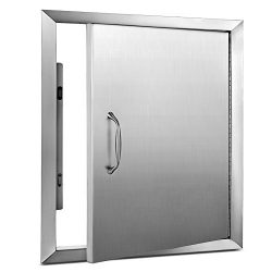 "Happybuy BBQ Access Door 18""x 20"" BBQ Island Single Door Stainless steel for Outdoor Kitchen Gri ..."
