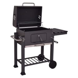Giantex Charcoal Grill Portable Barbecue Grill and Smoker Outdoor Backyard Cooking with Wheels