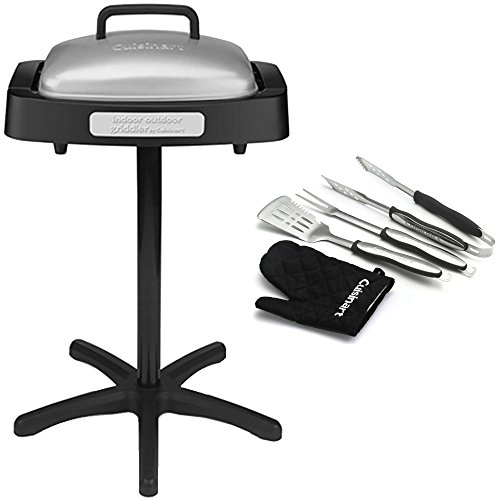 Cuisinart GRID180SA1 Indoor/Outdoor Grill with Reversible Nonstick Grill & Griddle Cooking P ...