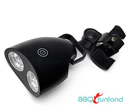LED BBQ Lights with 10 Super Bright LED Lights for Outdoor Grilling (Black)