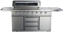 MCP Island Grills Stainless Steel Propane or Natural Gas BBQ Grill, with 8 Burners, Infrared Sea ...