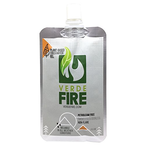 Fire Starter Gel (1-Pouch Pack) Instant Lighting Gel for Campfires, Barbecue, Emergency Survival ...
