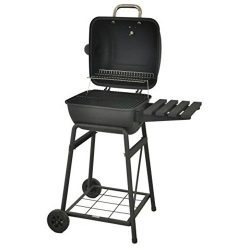 26 Inch Charcoal Barbeque Grill with Lid & Warming Rack For Outdoor BBQ Cooking