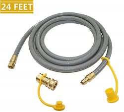 DOZYANT 24 Feet Natural Gas and Propane Gas Hose Assembly for Low Pressure Appliance -3/8″ ...