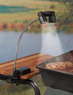 The Paragon Grill Light – LED Adjustable Light with Double Head Lamps, 3 Super Bright Ligh ...