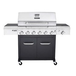 Nexgrill 720-0898 Deluxe 6-Burner Propane Gas Grill in Black with Side Burner