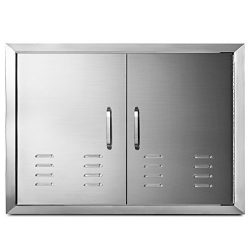 "Happybuy 30""x 21"" Double Door Flush Mount with Vents BBQ Access Door Stainless steel for BBQ Isl ..."