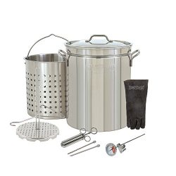 "Oversized Big Jumbo Large 44 Quart Stainless Steel""Big Bird"" Turkey Fryer Stockpot W ..."