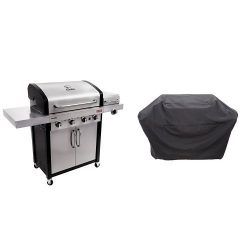 Char-Broil Signature TRU-Infrared 525 4-Burner Cabinet Liquid Propane Gas Grill with 5+ Burner E ...