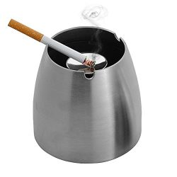 Ashtray,LOYMR Stainless Steel Unbreakable Modern Ashtray , Cigarette Ashtray for Indoor or Outdo ...