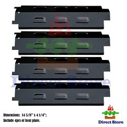 Direct store Parts DP131 (4-pack) Porcelain Steel Heat Plates Replacement Charbroil,Kenmore,Mast ...