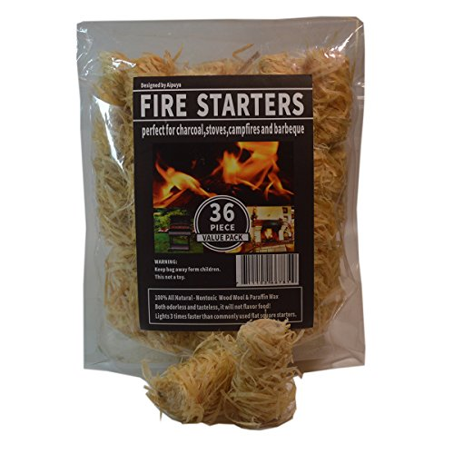 100% All Natural Charcoal Fire Starters Super Fast Lighting,Perfect for Barbecue Grills, Kamado ...