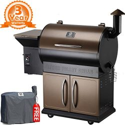 Z Grills ZPG-700D Wood Pellet Grill & Smoker 8 in 1 Bbq Auto Temperature Control, 700 sq inc ...
