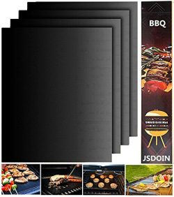 JSDOIN Grill Mat Set of 2-100% Non-stick BBQ Grill & Baking Mats – FDA-Approved, PFOA  ...