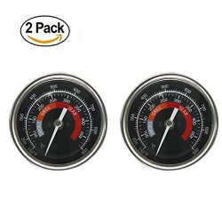 BBQ Grill Temperature Gauge Waterproof Large Face for Kamado Joe Barbecue Charcoal Grill Stainle ...