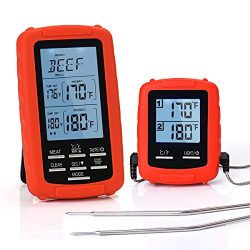Meat Thermometer Digital Grill Oven or Smoker Remote Food Thermometers | The best Wireless Acces ...