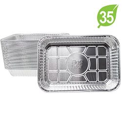"(35 Pack) Weber Grills Compatible Model 6415 Drip Pans l Small Size 7.5"" x 5"" x 1.7″ l Per ..."