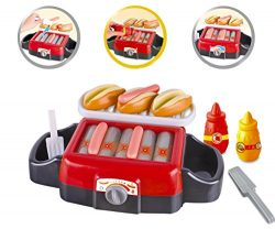 Hot Dog Roller Grill Electric Stove Play Food Kitchen Appliance Set for Kids