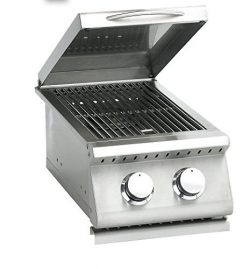 Summerset Sizzler Series Built-In Double Side Burner, Propane Or Natural Gas – SIZSB-2-LP  ...