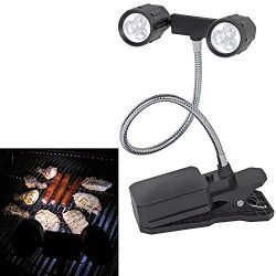 Geekercity 360°Rotation Adjustable LED Barbeque Grill Light, Chef Buddy Adjustable Outdoor BBQ C ...