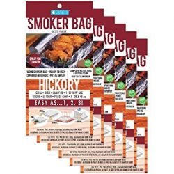 Smoker Bags – Set of 6 Hickory Smoking Bags for Indoor or Outdoor Use – Easily Infus ...
