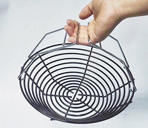 Broilmann Porcelain Steel Charcoal Ash Basket with Two Removable handles, Fits for Large Big Gre ...