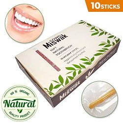GOWO (10 Pack) Miswak Sticks without Holders – Natural Teeth Whitening Kit – No Regu ...